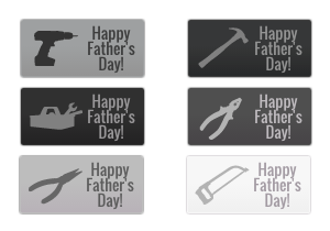 Happy Father's Day Buttons 2