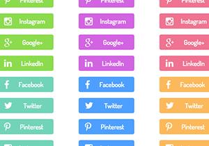 Spring Social Media Buttons