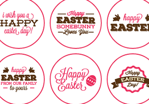 Happy Easter Buttons