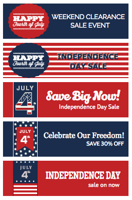 4th of July Sale Buttons