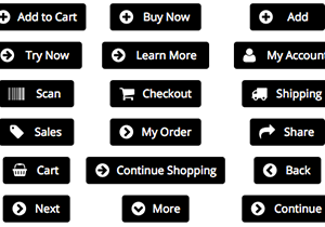 black e-commerce buttons