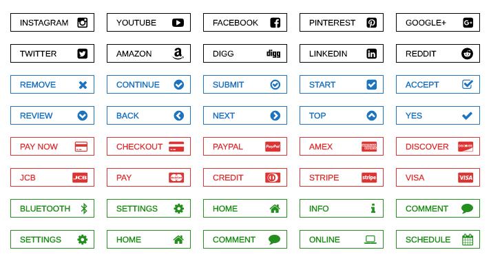 WordPress buttons