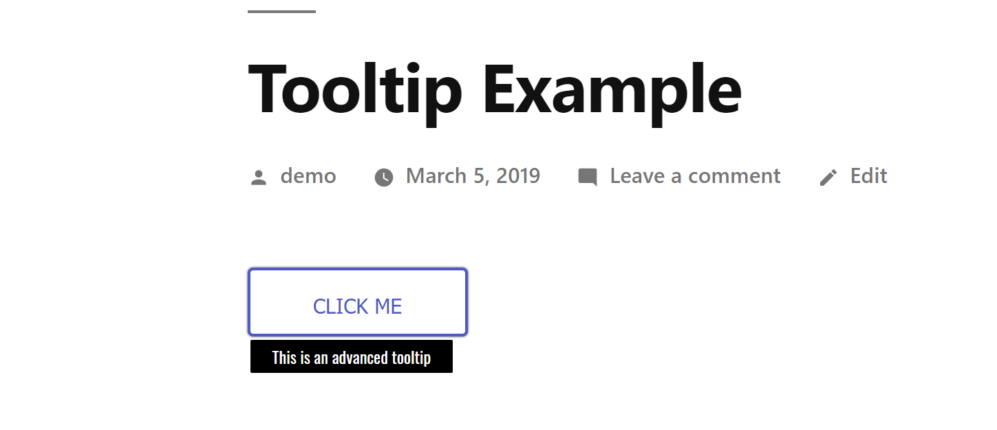 another Advanced Tooltip example