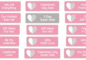 Pink Valentine Buttons